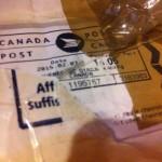 Посылка из Канады
