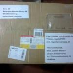Посылка из Германии