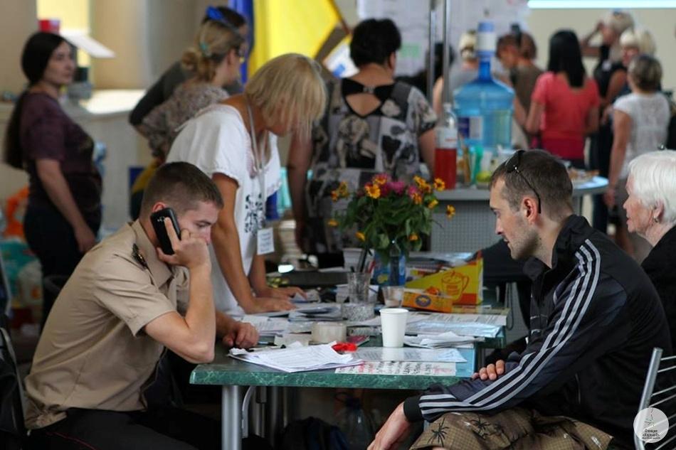 Переселенцы на Южном вокзале. Фото Константина Буновского.