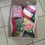 Конфеты, сахар, расскраски и детские вещи от Татьяны и Леонида