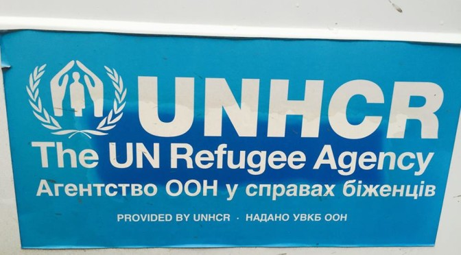 Получили гуманитарную помощь от УВКБ ООН вУкраине