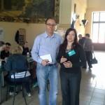 Наш друг Томас из Эссена с волонтером Мариной Воронцовой