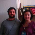 Волонтер Марина Воронцова с гостем из Италии  Matthias Canapini